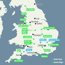 map uk villages plans for 200 000 homes in some of britain s most desirable areas