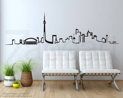 toronto skyline wall vinyl decal zoom