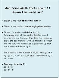 eleven things about the number eleven marilyn burns math