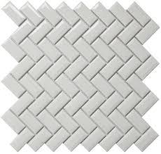 bright white diamond herringbone 1x2 porcelain mosaic tile