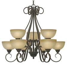 Jefferson 9 Light Chandelier Traditional - transitional chandeliers