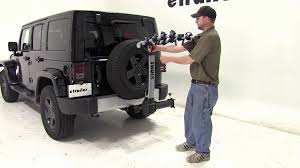 thule jeep wrangler thule apex 4 swing hitch bike rack review 2012 jeep wrangler