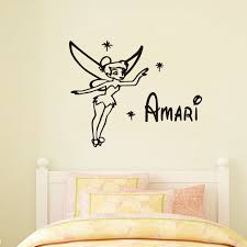 Custom Nursery Wall Decals Tinkerbell Wall Stickers Custom Name Available Baby Nursery Wall