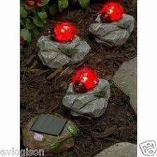 Ladybug Solar Garden Lights - ladybug garden stakes solar ladybug lighted garden stake solar