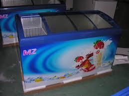 glass door chest freezer ice cream curved glass door chest freezer juka solar tech co ltd