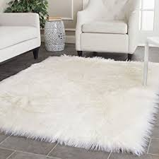 How To Clean Shag Rug Amazon Com Safavieh Faux Silky Sheepskin Fss235a Ivory Area Shag