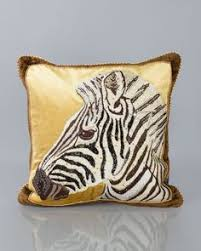 strongwater pillows tiger pillow 18 sq by strongwater at horchow cushions