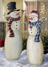 Light Up Snowman Outdoor Outdoor Christmas Decorations New Used Large Ebay