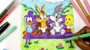 coloring baby looney toons tweety daffy bugs bunny baby taz