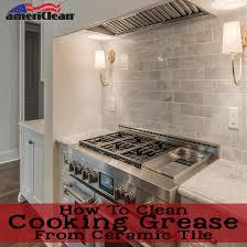 how to clean kitchen cabinets grease adorable burnt orange color resilient porcelain tile kitchen floor