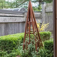 garden obelisk black steel 78 in high hayneedle