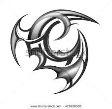 dragonsnake tribal ring tattoo vector stock vector 262879802