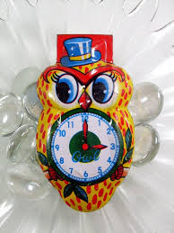 vintage owl tin clickers new year u0027s noisemakers set of 3 made in