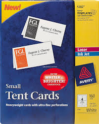 Avery 5871 Business Cards Avery Small Tent Cards 5302 Avery Online Singapore