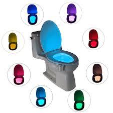 toilet light led toilet nightlight motion activated 8 colors light sensor