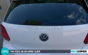 manual windshield wiper manuel removed the wiper of his polo 6r de wiper the world