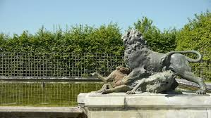 lion garden statue a pack of lions of bronze statues in a garden a pack of statue of