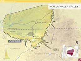 Washington Oregon Map by Walla Walla Valley Ava Oregon Wine Resource Studio