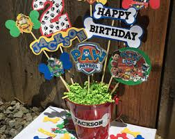 Centerpieces For Kids by Paw Patrol Theme Etsy
