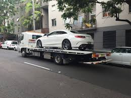 mercedes towing towing a prestige mercedes c63 from mercedes sydney