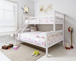 Triple Sleeper Bed Bunk Bed Double Bed In White Hanna Triple - Triple bunk beds with mattress