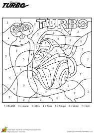 coloriage et activité jeu turbo