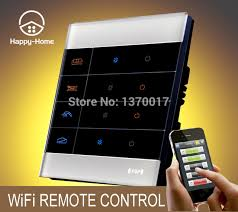 wireless remote control light switch 1gang white glass gsm zigbee mobile wireless remote control light