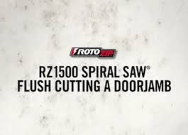 Cutting Door Jambs For Laminate Flooring Rotozip Spiral Saw Flush Cutting Door Jamb With The Rz1500 Youtube