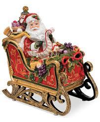 fitz and floyd regal santa in sleigh musical figurine