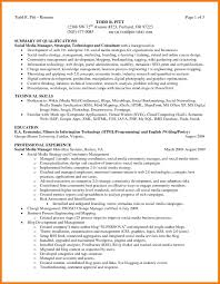 Programming Skills Resume 7 Summary Of Skills Resume Mbta Online