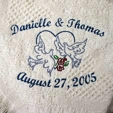 personalized wedding blankets personalized wedding throw blankets stitch sensations