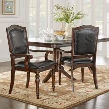 homelegance marston alligator faux leather nailhead dining side