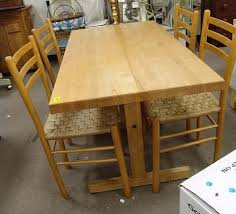 Table Maple Kitchen And Chairs Vintage With Solid Brown  Near Md - Butcher block kitchen tables and chairs