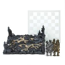 furniture exciting dragon chess set with castle design and