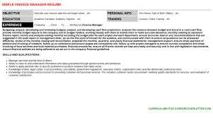 finance manager cover letter u0026 resume