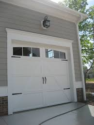 Garage Door Exterior Trim Add Trim To Garage Door Add Hardware To You Boring Garage Door To