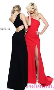 long one shoulder sherri hill prom dress promgirl