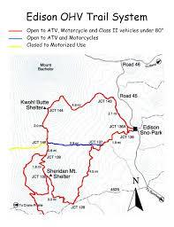 Rubicon Trail Map Edison Butte Trail