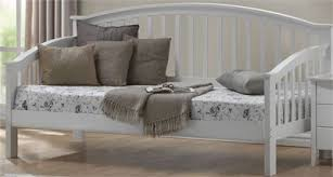 White Wood Single Bed Frame Bed White Wash Wooden Single Day Bed Frame Wooden