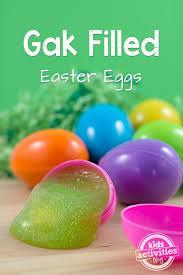 filled easter eggs gak filled easter eggs kids activities
