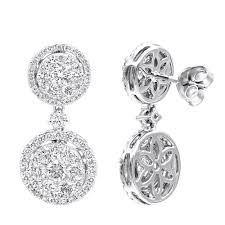 Cascading Bead Chandelier Earrings Express Diamond Earrings Diamond Studs Hoop Earrings Cluster Earrings
