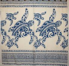 Hawaiian Curtain Fabric Amazon Com Hawaii Theme 100 Polyester Fabric Shower Curtain Blue