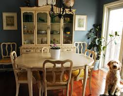 chair french provincial china cabinet and dining table with 8