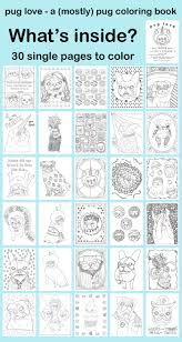 pug love a mostly pug coloring book chickenpants studio