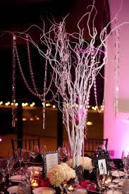 tree branch centerpieces encore centerpieces white tree branches with dangling crystals