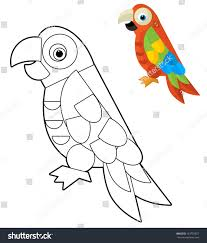 cartoon animal coloring page illustration children stock