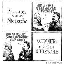 Nietzsche Meme - socrates vs nietzsche meme guy
