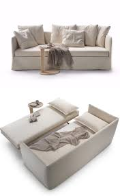 twins fabric sofa bed with removable cover by flexform design