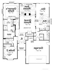 Contemporary Floor Plan by Second Floor Modern 2 Story House With Rectangular House Floor Plan