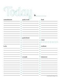 the plan a colorful free daily planner printable has goals